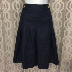 Chambray Skirt , looks like denim, size 16 pleated